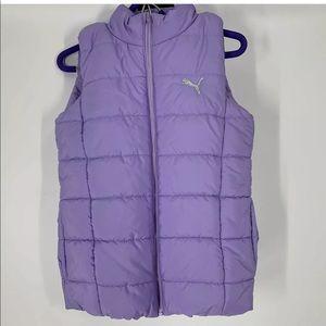 Puma girls puffer vest